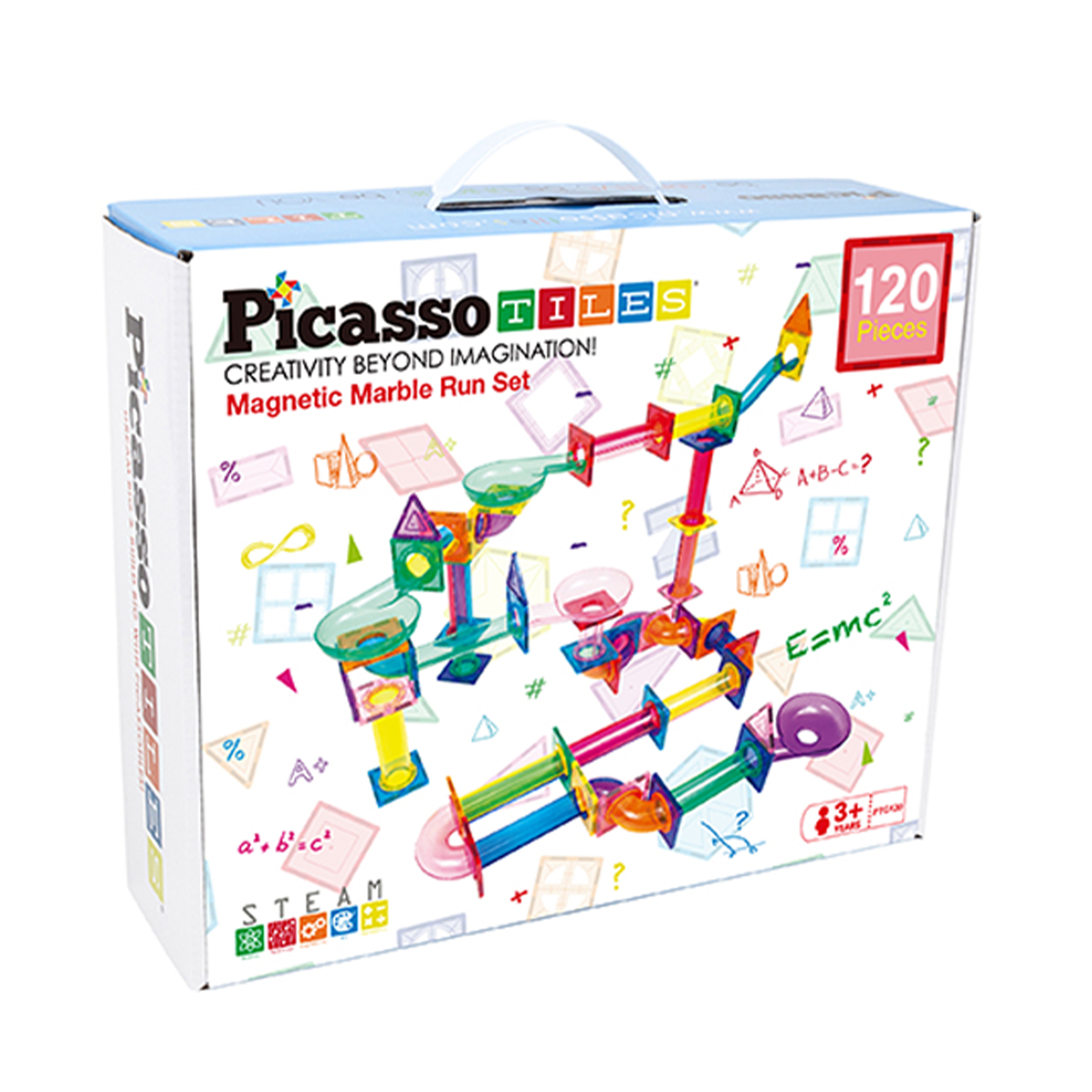 7a6532f7 7168 4d74 b652 70a3c75b75a1.  - PicassoTiles Marble Run 120 Piece Magnetic Building Blocks Magnet Tile Construction Toy Playset STEM Learning Educational Block Child Brain Development Kids Toys for Boys and Girls Age 3 and Up