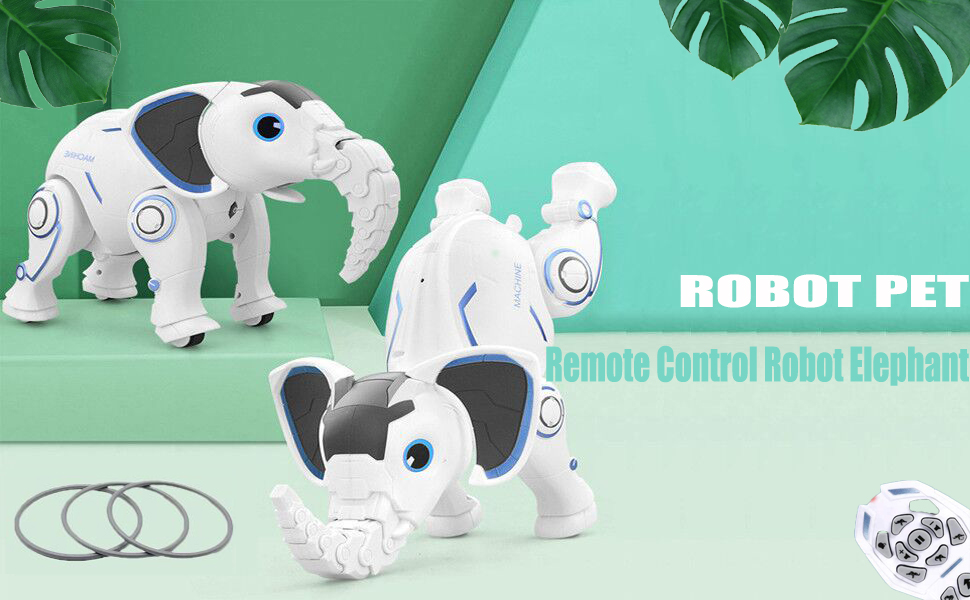 7aa49724 ec72 4492 86ce 166fa78a21eb.  CR0,0,970,600 PT0 SX970 V1    - WomToy Remote Control Robot Elephant Toy, RC Robotic Toys Singing Dancing Interactive Children Toy Early Educational Imitates Animals for Boys and Girls, Ages 3 and Up (Elephant)