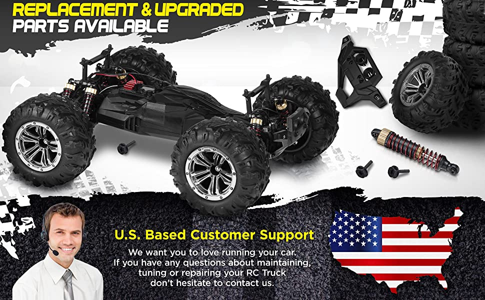 83ceaac5 79fc 4557 a5d6 67102905e388.  CR0,0,3880,2400 PT0 SX970 V1    - 1:10 Scale Large RC Cars 48+ kmh Speed - Boys Remote Control Car 4x4 Off Road Monster Truck Electric - All Terrain Waterproof Toys Trucks for Kids and Adults - 2 Batteries + Connector for 40+ Min Play