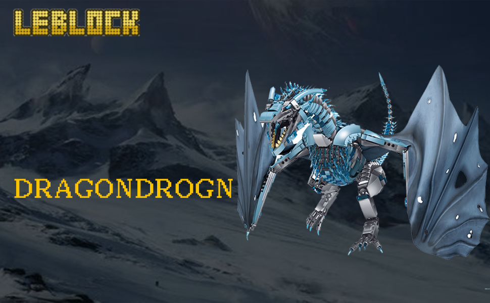 87b74f10 fdcb 4c02 b00e 8a28345cb2be.  CR0,0,970,600 PT0 SX970 V1    - LEBLOCK Building Toys for Boys, Dragon Set Construction 1889 Pieces Building Bricks Blue Ice Dragon with Wings Engineering Toy Building Blocks Display Collection Great Gift for Adult