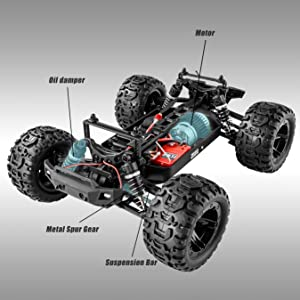 8a62728b 1b68 4134 a33f 057f3f6d5a9d.  CR0,0,2700,2700 PT0 SX300 V1    - BEZGAR 7 Hobby Grade 1:16 Scale Remote Control Truck, 4WD High Speed 40+ Kmh All Terrains Electric Toy Off Road RC Monster Vehicle Car Crawler with Rechargeable Batteries for Boys Kids and Adults
