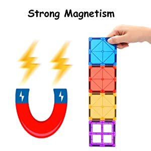 8b7aa2ee 1359 4c96 a887 809ec6894402.  CR0,0,1600,1600 PT0 SX300 V1    - MagHub 150PCS Kids 3D Magnetic Building Blocks with Car Alphabet, Magnetic Tiles Shape Set, Magnet Toys Construction Playboards, Learning Educational Gifts for Preschool Toddler Children