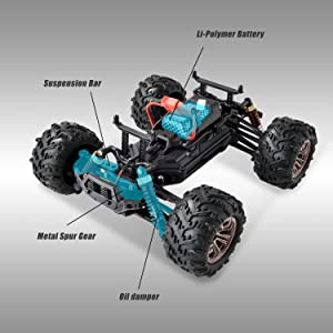 8c6caf6c 694b 44f6 8293 9bd7c08d945b.  CR0,0,3000,3000 PT0 SX300 V1    - BEZGAR 5 Hobby Grade 1:20 Scale Remote Control Truck, 4WD High Speed 30+ Kmh All Terrains Electric Toy Off Road RC Monster Vehicle Car Crawler with Rechargeable Batteries for Boys Kids and Adults
