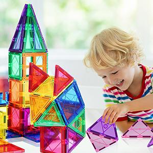 8dfa2931 45ad 4934 9ba8 1aba9abf40bc.  CR0,0,300,300 PT0 SX300 V1    - VATENIC 120PCS Kids Magnetic Tiles Building Blocks 2 Car Set Color Magnetic Blocks Toys for Kids Children,Educational Learning Building Toys Birthday Gifts for Boys Girls Age 3 4 5 6 7 8 9 10 Year Old