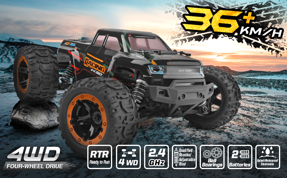 91a77a1e 30e3 4bfe a607 aa8795ff7ab7.  CR0,0,970,600 PT0 SX970 V1    - Remote Control Car 16889, 1:16 Scale 2.4Ghz RC Cars 4x4 Off Road Trucks, Waterproof RTR RC Monster Truck 36KM/H, Remote Controlled Toys for Kids and Adults with 2 Batteries 35+ mins Play