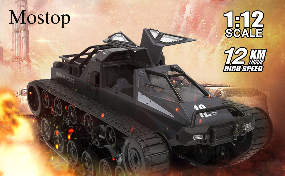 a7473c03 f111 4cc5 b8f7 f0e50edc20a0.  CR0,0,970,600 PT0 SX970 V1    - Mostop Remote Control Crawler High Speed Tank Off-Road 4WD RC Car 2.4 Ghz RC Army Truck 1/12 Drift Tank RC Tank for Kids Adults