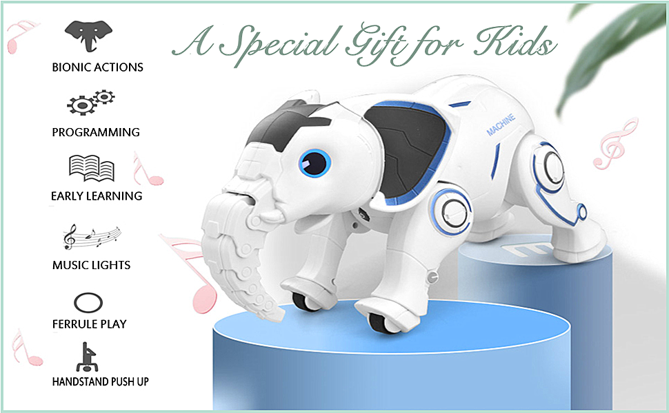 ae946c3f a835 4acf b309 5dea358f061f.  CR0,0,970,600 PT0 SX970 V1    - WomToy Remote Control Robot Elephant Toy, RC Robotic Toys Singing Dancing Interactive Children Toy Early Educational Imitates Animals for Boys and Girls, Ages 3 and Up (Elephant)