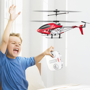 c1a747b7 1c2c 4a4b b3c9 bf3bab77b3c8. CR0,0,300,300 PT0 SX300   - Remote Control Helicopter, S107H-E Aircraft with Altitude Hold, One Key take Off/Landing, 3.5 Channel, Gyro Stabilizer and High &Low Speed, LED Light for Indoor to Fly for Kids and Beginners(Red)