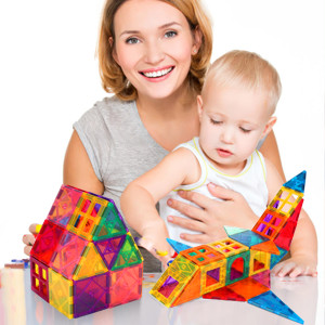 c341050a 0b27 40b2 a349 1ce10d262420.  CR0,0,300,300 PT0 SX300 V1    - VATENIC 120PCS Kids Magnetic Tiles Building Blocks 2 Car Set Color Magnetic Blocks Toys for Kids Children,Educational Learning Building Toys Birthday Gifts for Boys Girls Age 3 4 5 6 7 8 9 10 Year Old