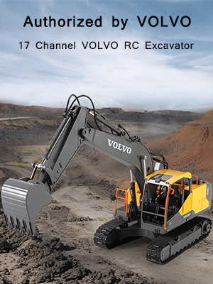 c98d6f6b d12a 4d7a 8bd1 05665992b4d9.  CR0,0,300,400 PT0 SX300 V1    - Volvo RC Excavator 3 in 1 Construction Truck Metal Shovel and Drill 17 Channel 1/16 Scale Full Functional with 2 Bonus Tools Hydraulic Electric Remote Control Excavator Construction Tractor