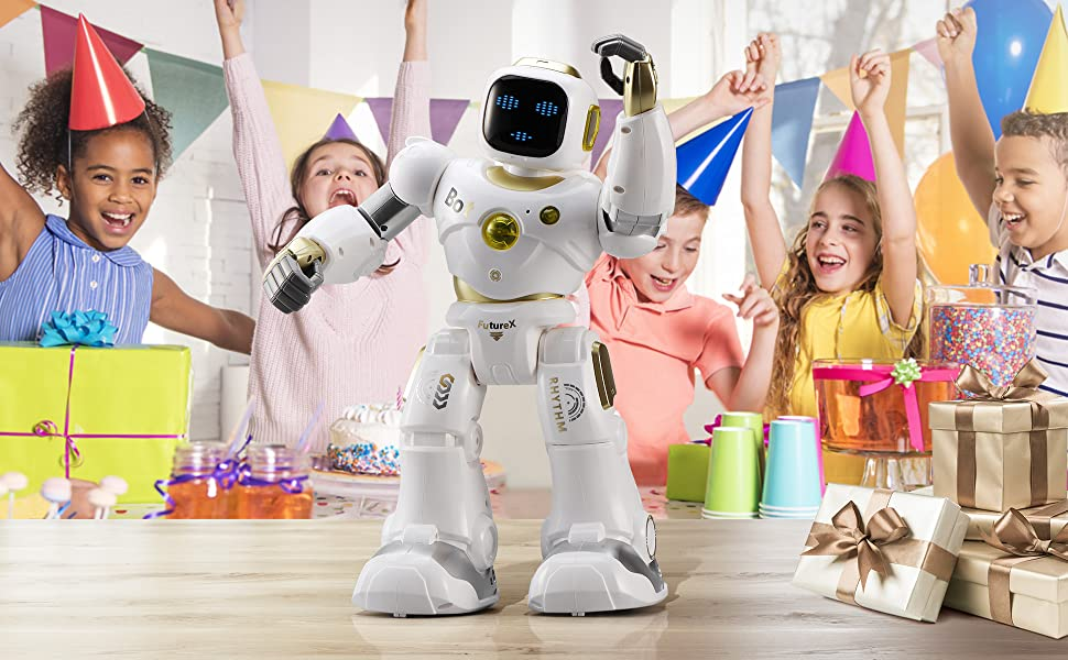 cb234fa7 b23f 4efd 8be5 d7108adf6d44.  CR0,0,1940,1200 PT0 SX970 V1    - Ruko AI Robots for Kids, Large Programmable RC Robot Toy with APP Control Voice Command Touch Response Bluetooth Speaker Emoji for 3-12 Years Old Boys Girls (Golden)
