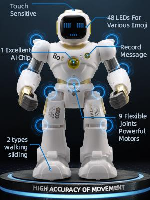 d6a40535 fede 4f5d 8f50 33b171fa4edc.  CR0,0,300,400 PT0 SX300 V1    - Ruko AI Robots for Kids, Large Programmable RC Robot Toy with APP Control Voice Command Touch Response Bluetooth Speaker Emoji for 3-12 Years Old Boys Girls (Golden)