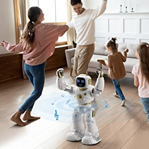 d6b39de2 7027 43a4 9259 3993ab770f4a.  CR0,0,1600,1600 PT0 SX300 V1    - Ruko AI Robots for Kids, Large Programmable RC Robot Toy with APP Control Voice Command Touch Response Bluetooth Speaker Emoji for 3-12 Years Old Boys Girls (Golden)