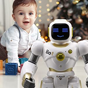 d88ba6c0 136f 4163 9969 066e5b88052f.  CR0,0,1600,1600 PT0 SX300 V1    - Ruko AI Robots for Kids, Large Programmable RC Robot Toy with APP Control Voice Command Touch Response Bluetooth Speaker Emoji for 3-12 Years Old Boys Girls (Golden)
