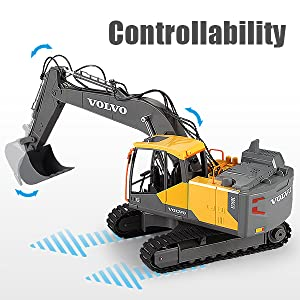 dd0ff824 3dde 4863 b1ed 26c92fac2ff8.  CR0,0,600,600 PT0 SX300 V1    - Mostop 3 in 1 Remote Control Excavator with 2 Tools 2.4G Construction Truck with Sounds 660 ° Rotation Toy for Kids