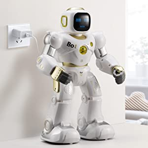 e6a76c3b 5f9e 4748 bf0f ba94c590141c.  CR0,0,800,800 PT0 SX300 V1    - Ruko AI Robots for Kids, Large Programmable RC Robot Toy with APP Control Voice Command Touch Response Bluetooth Speaker Emoji for 3-12 Years Old Boys Girls (Golden)