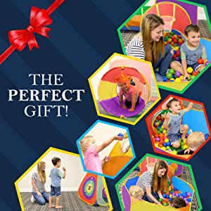 e7a2ea4b b89f 4f29 85ce 718aaf76b7b5.  CR0,0,1600,1600 PT0 SX300 V1    - Gift for Toddler Boys & Girls, Ball Pit, Play Tent and Tunnels for Kids, Best Birthday Gift for 1 2 3 4 5 Year old Pop Up Baby Play Toy, Target Game w/ 4 Darts Indoor & Outdoor, Pit Balls Not Included