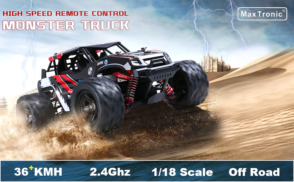 eb338b81 1da1 4baf 88d9 69da33254942.  CR0,0,970,600 PT0 SX970 V1    - RC Cars,36KM/H High Speed Remote Control Car for Adults,1/18 Remote Control Truck 4x4 All Terrain Off Road Monster Truck,Fast RC Trucks 2.4GHz Two Rechargeable Batteries Included for Boys 8-12
