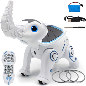 ed637726 fb99 4bb2 b91e 6ce343bbfdb7.  CR0,0,300,300 PT0 SX300 V1    - WomToy Remote Control Robot Elephant Toy, RC Robotic Toys Singing Dancing Interactive Children Toy Early Educational Imitates Animals for Boys and Girls, Ages 3 and Up (Elephant)