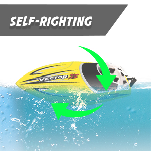 f34812c3 3eec 4e3b 99af ca8fa301c971.  CR0,0,300,300 PT0 SX300 V1    - YEZI Remote Control Boat for Pools & Lakes,Udi001 Venom Fast RC Boat for Kids & Adults,Self Righting Remote Controlled Boat W/Extra Battery (Yellow)