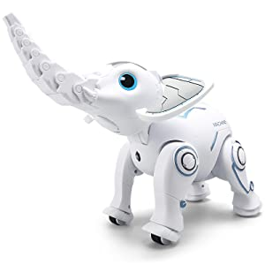 f51b1423 76aa 4fc9 8987 7bc062462bbe.  CR0,0,800,800 PT0 SX300 V1    - WomToy Remote Control Robot Elephant Toy, RC Robotic Toys Singing Dancing Interactive Children Toy Early Educational Imitates Animals for Boys and Girls, Ages 3 and Up (Elephant)