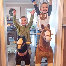 f62ddd51 ead1 4b23 80da f290342d726e. CR0,125,1080,1080 PT0 SX220   - PonyCycle Official Ride-On Horse No Battery No Electricity Mechanical Pony Brown with White Hoof Giddy up Pony Plush Walking Animal for Age 4-9 Years Medium Size - N4151