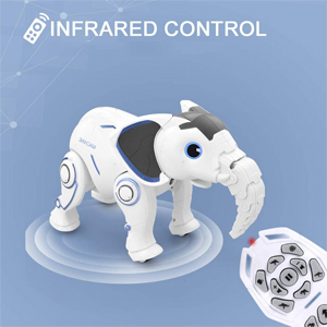 fa1a23eb ee33 4cc8 a068 e1561305b518.  CR0,0,300,300 PT0 SX300 V1    - WomToy Remote Control Robot Elephant Toy, RC Robotic Toys Singing Dancing Interactive Children Toy Early Educational Imitates Animals for Boys and Girls, Ages 3 and Up (Elephant)