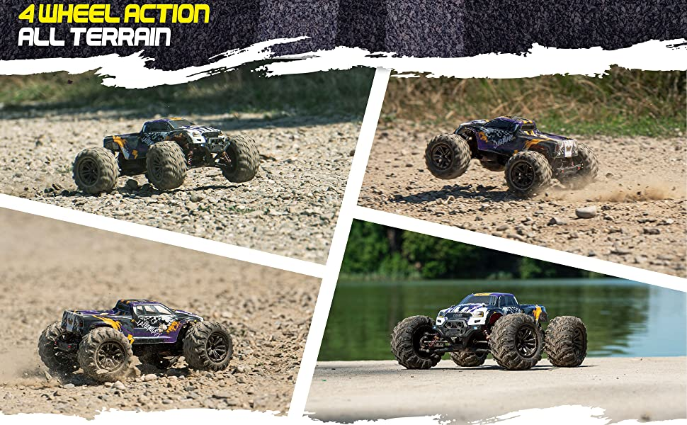 ffac7389 243d 4985 bd59 4175ed14dd77.  CR0,0,3880,2400 PT0 SX970 V1    - 1:10 Scale Large RC Cars 48+ kmh Speed - Boys Remote Control Car 4x4 Off Road Monster Truck Electric - All Terrain Waterproof Toys Trucks for Kids and Adults - 2 Batteries + Connector for 40+ Min Play