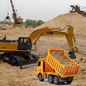 t1IRbu2iSWi4. UX300 TTW   - Fisca Remote Control Excavator RC Digger, 2.4Ghz 11 Channel Construction Vehicle Full Function Toy Metal Shovel with Lights and Sound