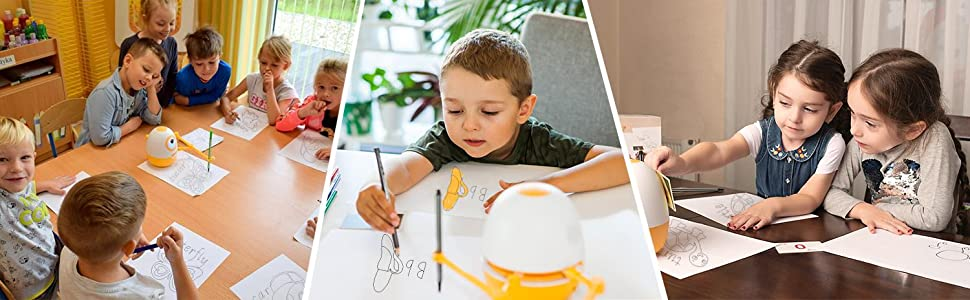 0d4630c3 f00f 41b5 978b c32fdd3e8843.  CR0,0,1500,464 PT0 SX970 V1    - WEDRAW Toddler Learning Educational Toys for 3 4 5 year old kids,Interactive Talking Drawing Robot Teach Math Sight Words Preschool Kindergarten Learning Activities Toy Gift for Girls and Boys Age 3-5