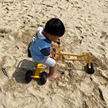 13e85b02 5c1d 4d94 8649 714d402e7a52.  CR0,0,1600,1600 PT0 SX220 V1    - Hand-Mart Ride On Sand Digger with Wheels, Sandbox for Kids, Play Toy Excavator Crane with 360° Rotatable Seat for Sand, Snow and Dirt, Heavy Duty Steel Digging Toys for Boys Girls Outdoor