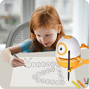 2c2f77f2 00d5 48fd a4a2 8e1072389c45.  CR0,0,800,800 PT0 SX300 V1    - WEDRAW Toddler Learning Educational Toys for 3 4 5 year old kids,Interactive Talking Drawing Robot Teach Math Sight Words Preschool Kindergarten Learning Activities Toy Gift for Girls and Boys Age 3-5