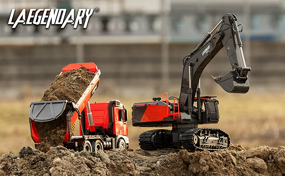 2e84e16c b7f4 4c47 935e bbccb39d04a4.  CR0,0,3880,2400 PT0 SX970 V1    - 1:14 Scale Large Remote Control Excavator Toy for Boys and Adults – Compatible with Dump Truck RC Construction Vehicles - 22 Channel Full Functional Metal Shovel RC Truck - 2 Batteries & 2 Chargers