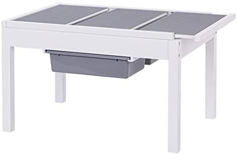 31 WyPeAMeL. AC  - UTEX Kids 2 in 1 Large Activity Table with Storage, Construction Table for Kids,Boys,Girls, White