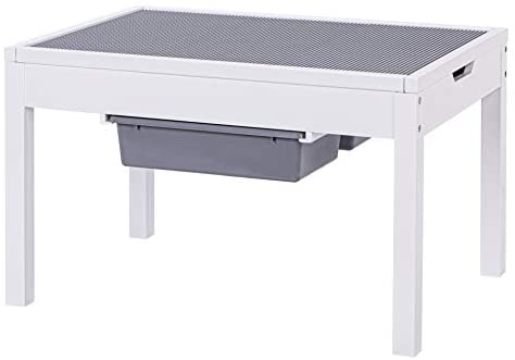 31fDauNP6nL. AC  - UTEX Kids 2 in 1 Large Activity Table with Storage, Construction Table for Kids,Boys,Girls, White