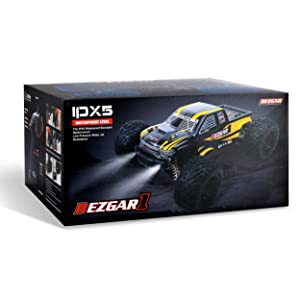 3a132ea8 ec3f 4dc6 a233 5e18c95460a6.  CR0,0,2500,2500 PT0 SX300 V1    - BEZGAR 1 Hobby Grade 1:10 Scale Remote Control Truck, 4WD High Speed 48+ kmh All Terrains Electric Toy Off Road RC Monster Vehicle Car Crawler with 2 Rechargeable Batteries for Boys Kids and Adults