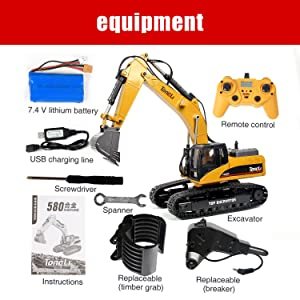4081a018 d1a7 41d6 9f2a 4b1bd9449881.  CR0,0,1500,1500 PT0 SX300 V1    - TongLi 1580 1:14 Scale All Metal RC Excavator Toy for Adults Remote Control Digger Construction Trucks 2.4Ghz Powerful Upgraded V4 with New Motherboard