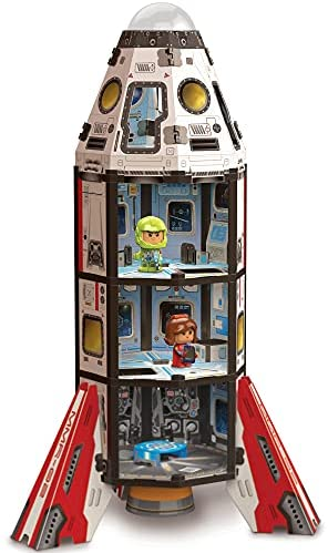 41 q Xm+aeS. AC  - GUJO Adventure Mars Mission Rocket, Kids STEM Building Toys Set (2.5 ft. Tall) Space Toy Rocket Ship - STEM Learning Toy for Boys & Girls Ages 7-11+ Great Gift for Kids (240+ Pieces)