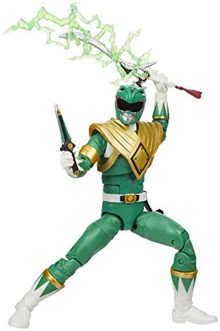 41160K86vZL. AC  - Power Rangers Lightning Collection Mighty Morphin Green Ranger 6-Inch Premium Collectible Action Figure Toy with Accessories
