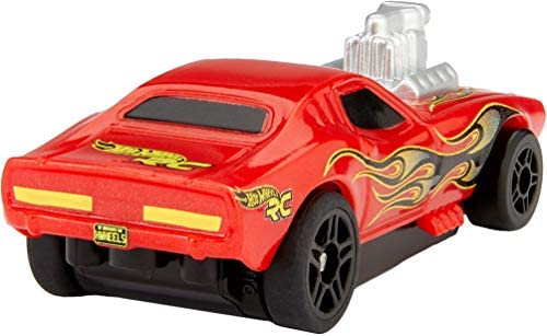 4141w7+bQVL. AC  - Hot Wheels R/C 1:64 Scale Rechargeable Radio-Controlled Racing Cars for On- or Off-Track Play, Includes Car, Controller & Adapter for Kids 5 Years Old & Up