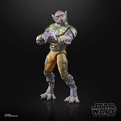"""418PA JT4JL. AC  - Star Wars The Black Series Garazeb """"Zeb"""" Orrelios Toy 6-Inch-Scale Star Wars Rebels Collectible Deluxe Action Figure, Kids Ages 4 and Up"""
