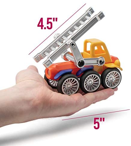 418TlGgXleL. AC  - Play Brainy Magnetic Toy Cars Set for Boys and Girls - Brilliant Educational Toys for Toddlers and Preschoolers - Montessori Toy is Load of Fun & Helps with Developmental Skills (90 Piece)