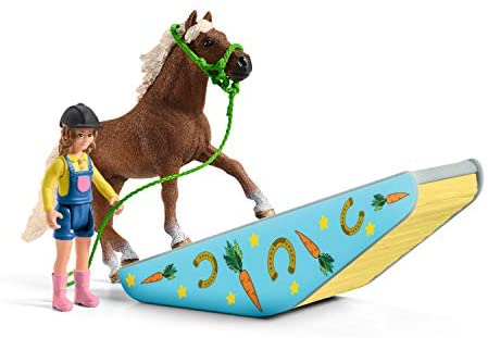 4198riA5nCL. AC  - Schleich Farm World Pony Agility Training 41-piece Horse Playset for Kids Ages 3-8