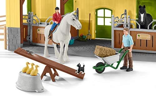 41A8zAN7iQL. AC  - Schleich Farm World, 30-Piece Playset, Farm Toys and Farm Animals for Kids Ages 3-8, Horse Stable