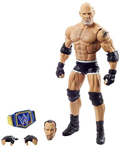 41BmTzUf qL. AC  - WWE Wrestlemania 37 Elite Collection Goldberg Action Figure with Universal Championship and Paul Ellering and Rocco BuildAFigure Pieces6 in Posable Collectible Gift Fans