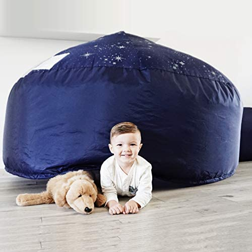 41CTTMxUG2L. AC  - The Original AirFort Build A Fort in 30 Seconds, Inflatable Fort for Kids (Starry Night)
