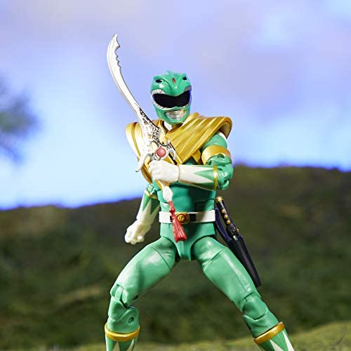 41ClfRTESDL. AC  - Power Rangers Lightning Collection Mighty Morphin Green Ranger 6-Inch Premium Collectible Action Figure Toy with Accessories