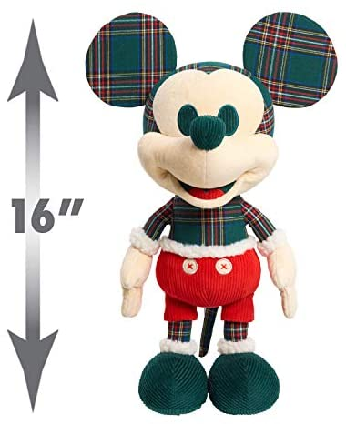 41DyY50UqOL. AC  - Disney Year of the Mouse Collector Plush, Holiday Spirit Mouse Mickey, Amazon Exclusive by Just Play