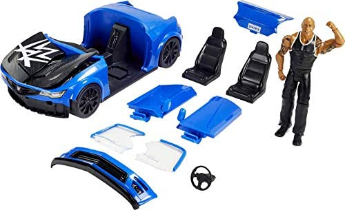 41F1CrE O L. AC  - WWE Wrekkin' Slam-Mobile Vehicle (13-in) with Rolling Wheels and 8 Breakable Parts & 6-in The Rock Basic Action Figure, Gift for Ages 6 Years Old and Up [Amazon exclusive]