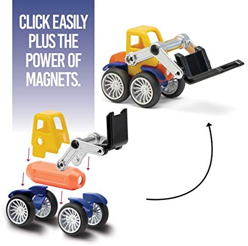 41L8v836ioL. AC  - Play Brainy Magnetic Toy Cars Set for Boys and Girls - Brilliant Educational Toys for Toddlers and Preschoolers - Montessori Toy is Load of Fun & Helps with Developmental Skills (90 Piece)
